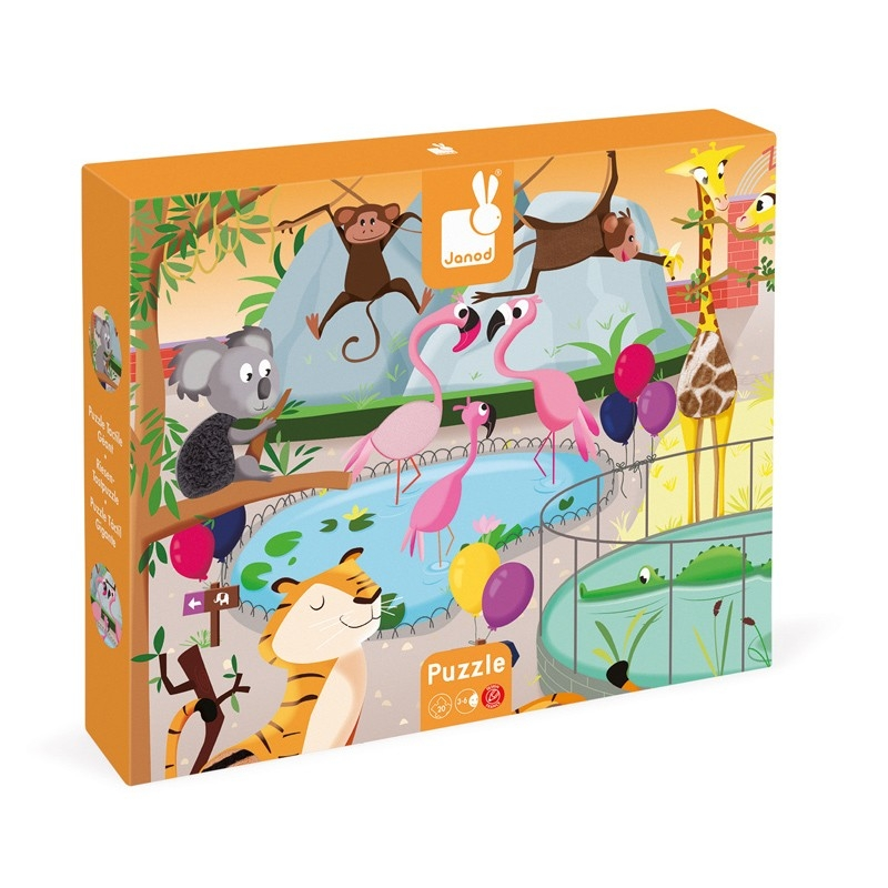 Janod Tactile Puzzle Zoo